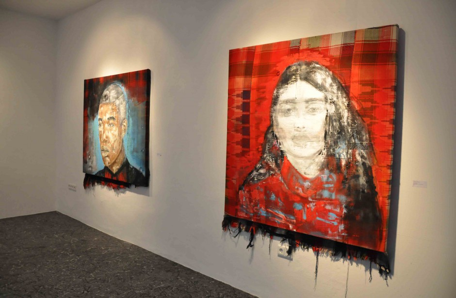 """Installation view   Solo Exhibiton """"Infopoint in China Town""""   Galerie flash, Munich   2015"""
