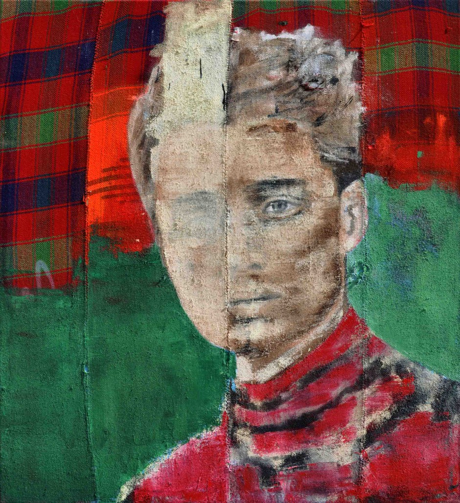 Prince Valentine | Oil and spray paint on djadjim/kilim | 170 x 150 cm